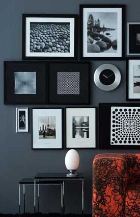 Home christmas decoration 10 interesting ways to display art on walls the idea is simple with great results simple black frames pop against the pastel blue pocket friendly and easy do it yourself easy winner solutioingenieria Gallery