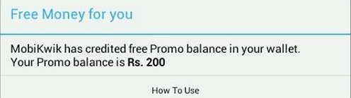 Rs 200 recharge mobikwik