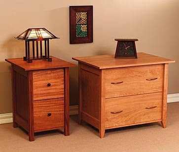 wood file cabinets, lateral and vertical