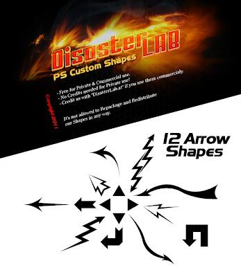12 formas personalizadas tipo flecha