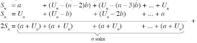 jumlah n suku pertama barisan aritmatika