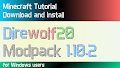 HOW TO INSTALL<br>Direwolf20 Modpack [<b>1.10.2</b>]<br>▽
