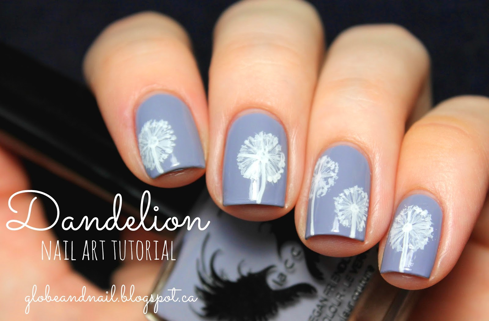 Globe & Nail: Dandelion Nail Art Tutorial