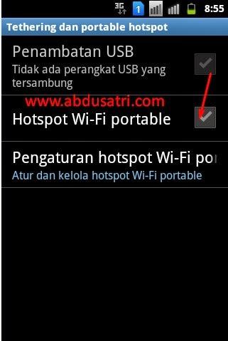 android sebagai modem di laptop