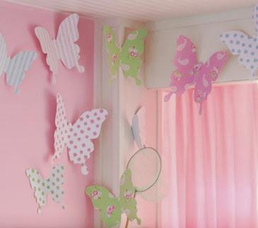Lindas mariposas de papel manualidades para decorar un - Papel para decorar pared ...