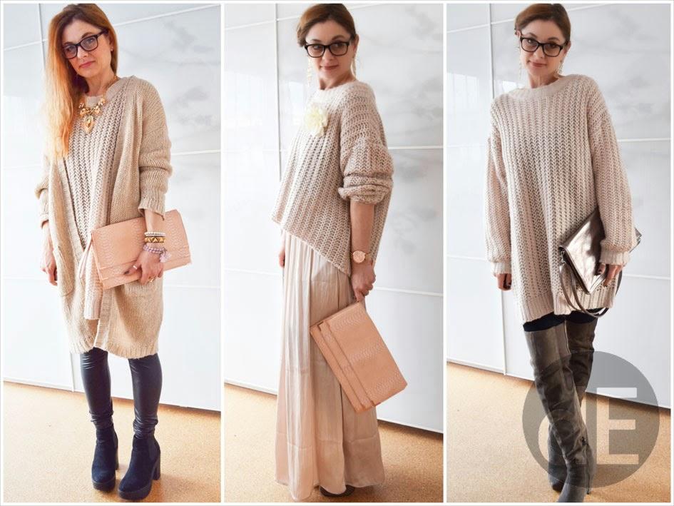 drei wege einen oversized pullover zu tragen outfit die edelfabrik der 40 blog f r mode. Black Bedroom Furniture Sets. Home Design Ideas
