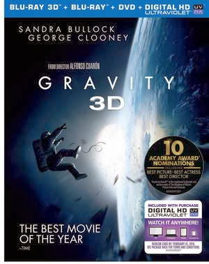 Gravity Starring Sandra Bullock on Blu-ray and DVD