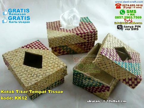 Kotak Tikar Tempat Tissue Karton Tikar Mendong
