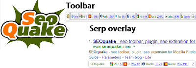 Seoquake toolbar