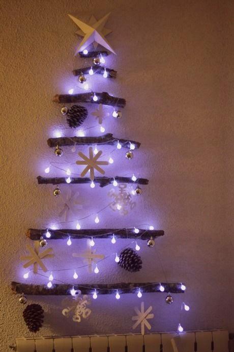 Mil artes mujer rbol de navidad con ramas secas - Arbol de navidad con ramas ...