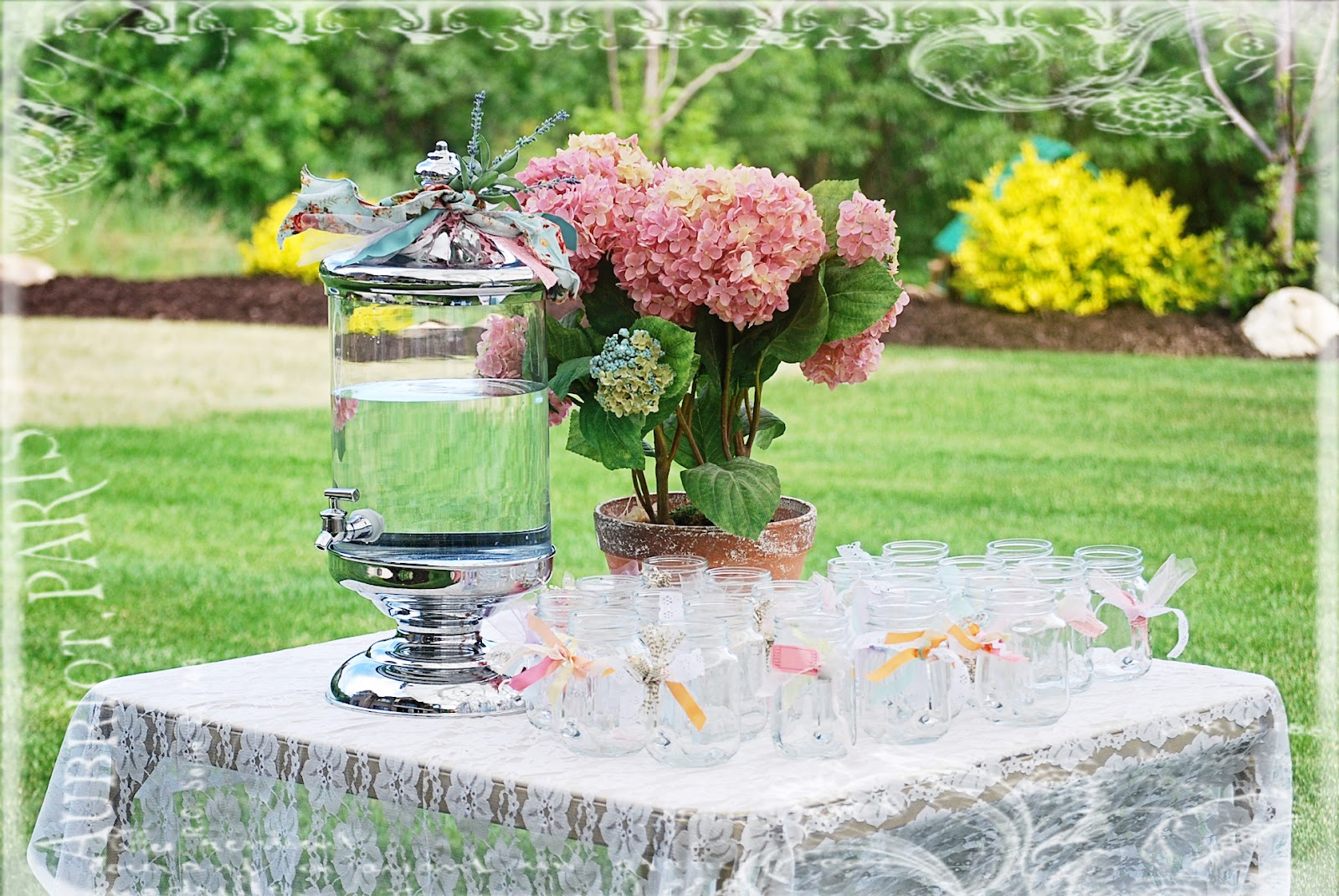 Inkley family english tea party for Garden tea party table decorations