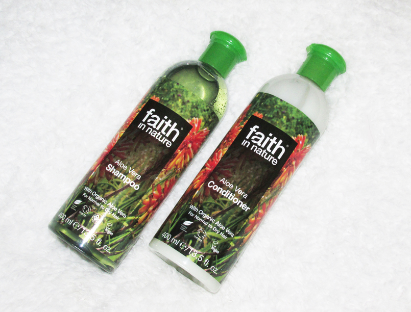 faith in nature shampoo and conditioner review, aloe vera shampoo and conditioner, faith in nature review, haircare, natural haircare, natural shampoo, natural conditioner,