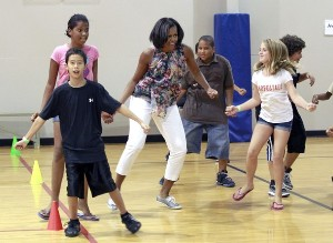 Michelle Attends Fitness Class!