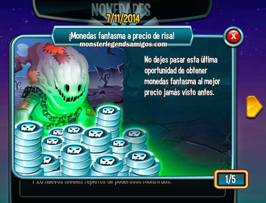 imagen de la oferta de monedas fantasmas de la isla de halloween