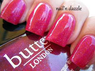 disco biscuit, butter london, pink, polish, glitter, nail'n dazzle, nailndazzle, nail, dazzle