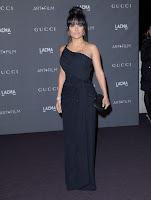 Salma Hayek glamorous in a black dress