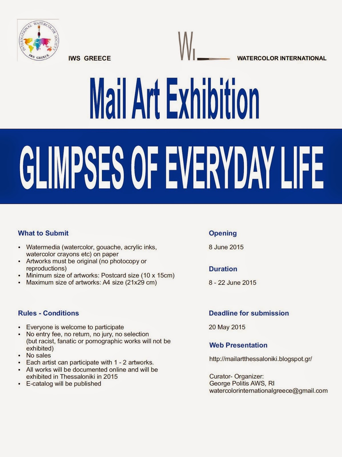 Mail Art Exhibition Poster