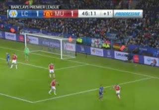 Leicester City vs Manchester United - Babak Pertama 1-1