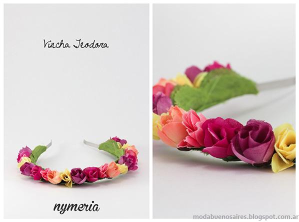 Vinchas con flores 2014. Moda 2014. Nymeria primavera verano 2014.