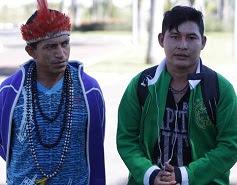 Valdenir Munduruku & friend leaving Brasília.
