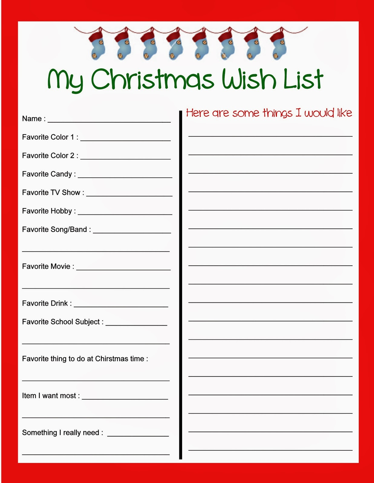Secret Santa Wish List Template Printable Stout stop: christmas wish ...
