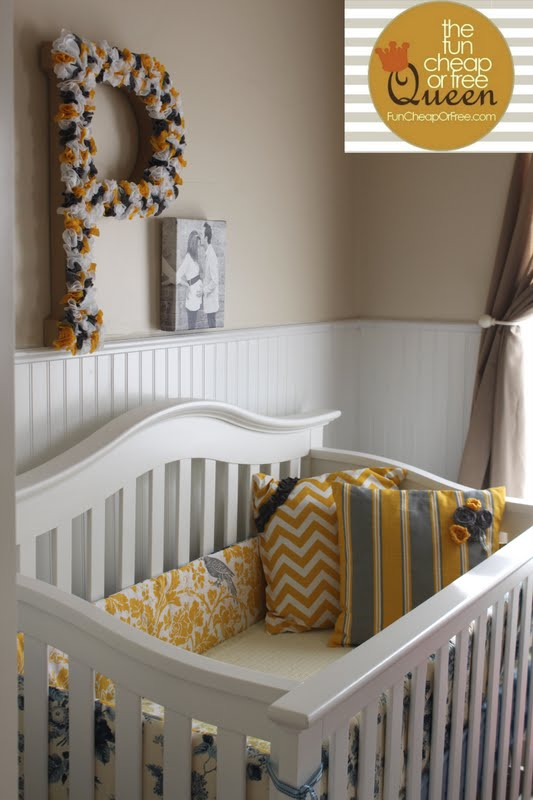 how to make a crib bumper tutorial