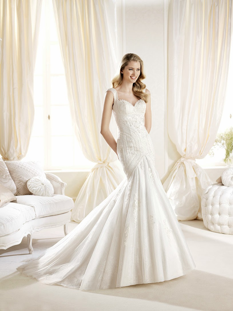 Bride fashion 6 wedding dresses in la sposa 2014 for Heart shaped mermaid wedding dresses