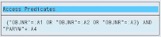 SAP ST05 SQL Trace output SQL statement explain plan access predicates