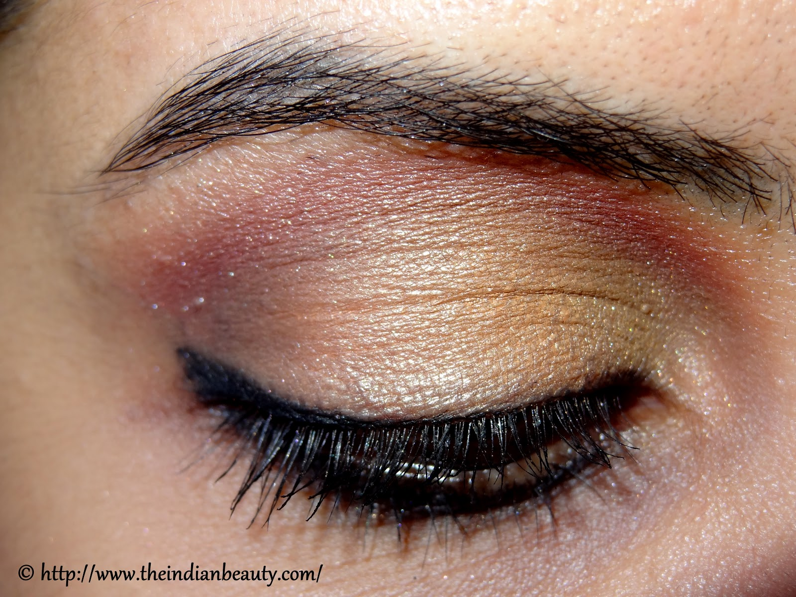 Subtle Orange And Red Party Eye Make Up Tutorial The Indian Beauty