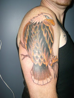 Eagle Tattoo Design on Guys Arms