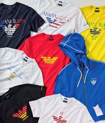 camisetas y sudaderas equipos Mundial Armani Jeans