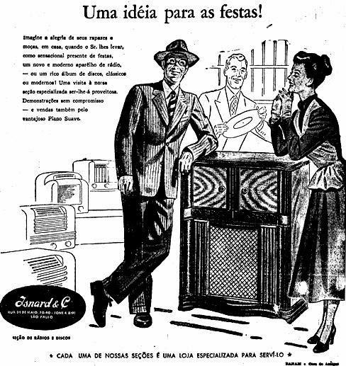 """""""Imagine a alegria dos seus rapazes e moças"""", dizia o anúncio do rádio com toca-discos em 1948"""