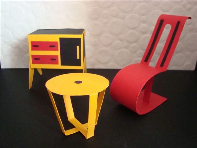 Paper furniture and a man called mr mustache - Paper furniture ...