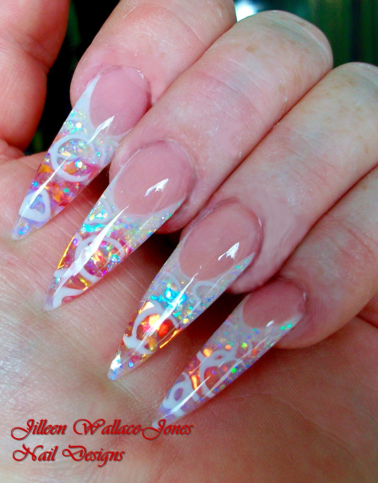 Get your sexy on with nail it nail art french with young nails glitter lemonaide mylar and orange mylar prinsesfo Images