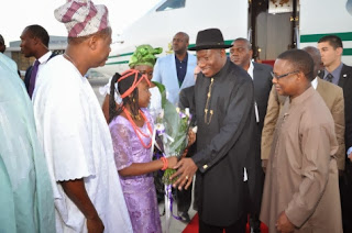 Goodluck Jonathan in Israel on pilgrimage