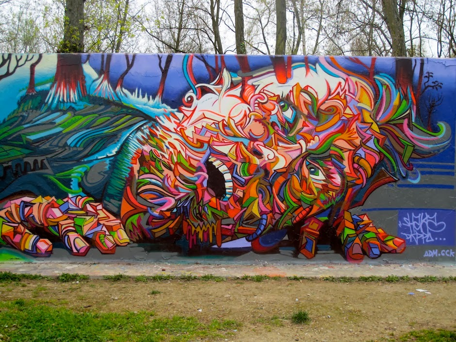 Shaka marchal mithouard psychedelic graffiti artist for Art of mural painting