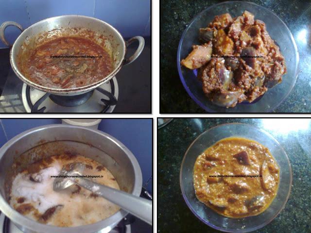 2 in 1 brinjal varuval/Kuzhambu