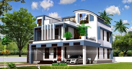 house plan of beautiful contemporary home kerala home design and