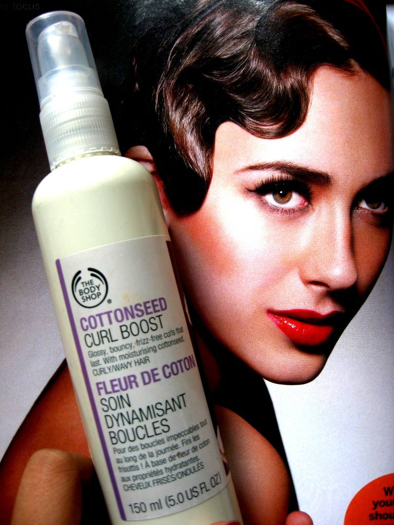 The Body Shop Cottonseed Curl Boost Leave In Conditioner