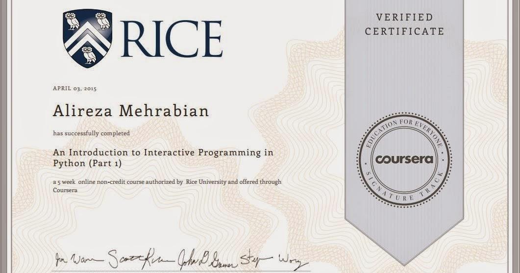 My First Certificate From Coursera Mechatronics Adventures
