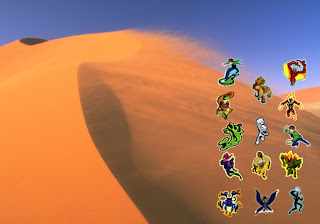 Ben Ten Alien Monsters free posters wallpapers Ben 10 in classic Desert Wind background