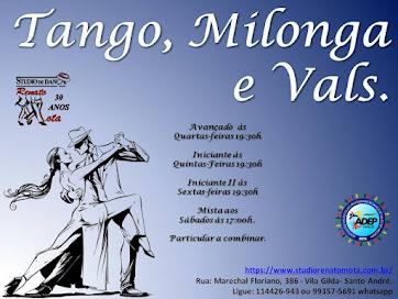 Aulas de Tango, Milonga e Vals.
