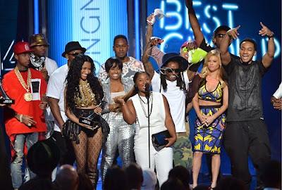 fotos de young money en los premios bet