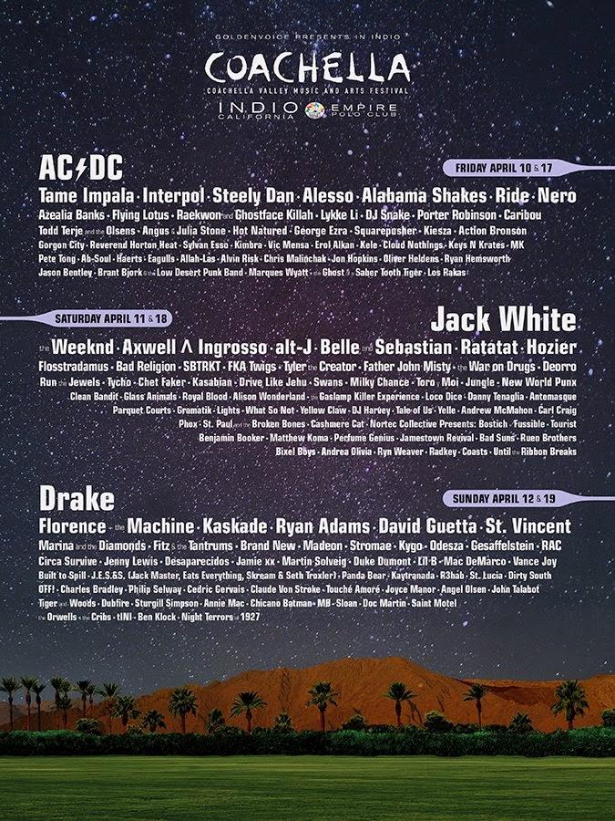 programming  of Coachella 2015