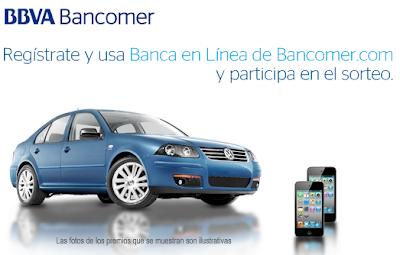 premios automovil Jetta clasico 2011, 2 ipod touch de 8gb apple promocion banca en linea bancomer Mexico 2011