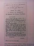 Ordine del giorno stilato dal generale de Charette in occasione della morte del cappellano militare