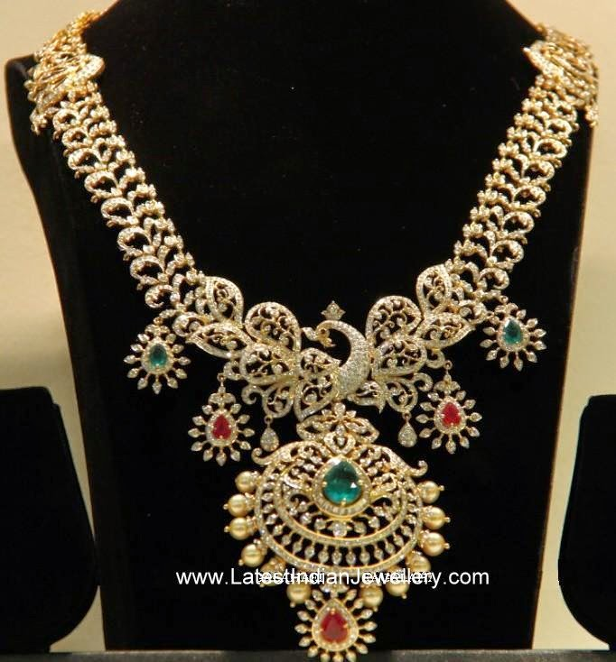 Peacock Design Indian Diamond Set
