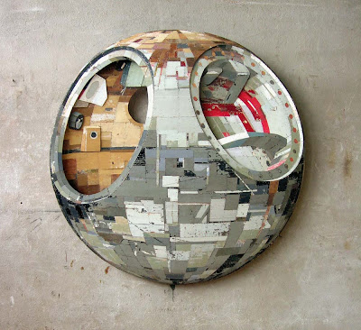 Ron van der Ende Vostok 2006 bas-relief in reclaimed timber, 130 x 130 x 14cm (private collection)