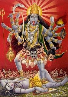 Kali Deusa Entidade Língua de Fora Hinduísmo