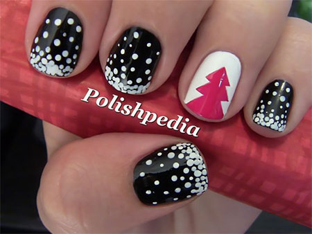 Black Acrylic Nail Designs Trends 2015 - 2016 14